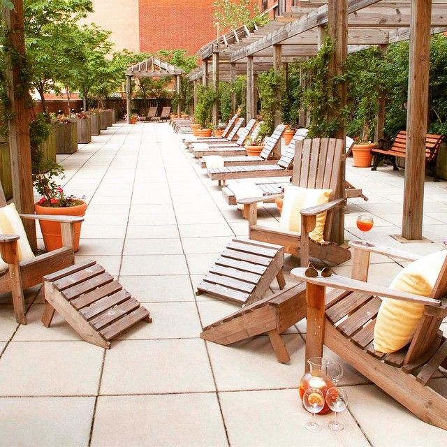 One Of Our 3 Outdoor Areas At One Columbus Place Outdoor Areas Nyc Living Patio
