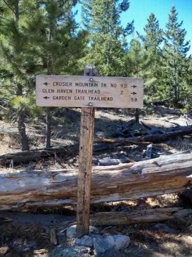 Crosier Mountain trail confluence