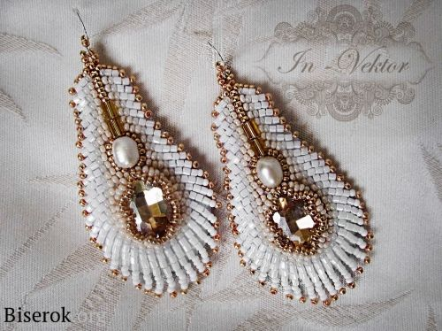 BEADED EARRING TUTORIAL THAT NEEDS A LOT OF WORK