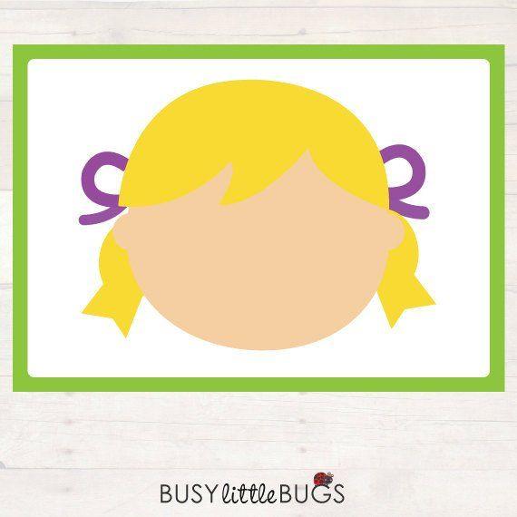 Make A Face Playdough Mats