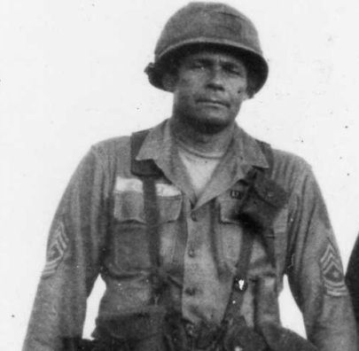 Command Sergeant Major Basil Plumley, 50+ year combat veteran of WWII, Korea, and Vietnam. He fought only with a Colt 1911 because he believed the M16 had too much plastic and not enough wood and steel. Among his many accomplishments, he led a bayonet charge against enemy forces outnumbering his unit 5 to 1 in the Ia Drang Valley, killing over twenty-five communist soldiers.