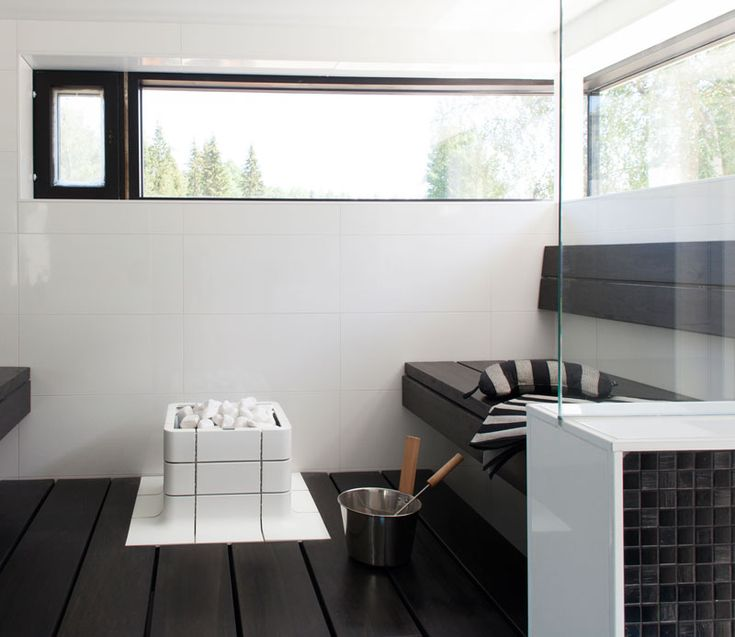 Ceramic Nuoska sauna heater in Asuntomessut, Tampere