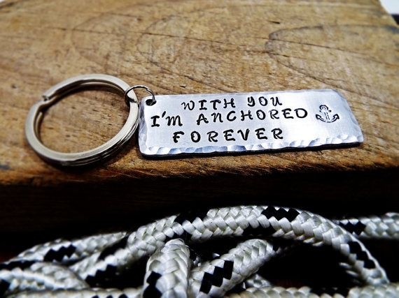 With You I'm Anchored Forever Nautical by Aluminiopassions on Etsy
