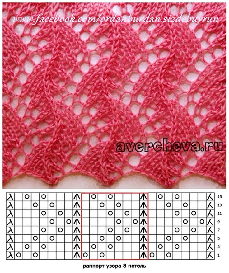 lace knitting pattern graph
