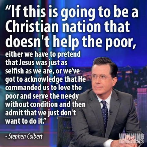 if this is going to be a Christian nation....
