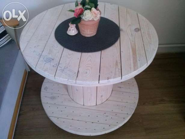 Bęben drewniany.Stolik z bębna,szpula drewniana Kcynia - image 1
