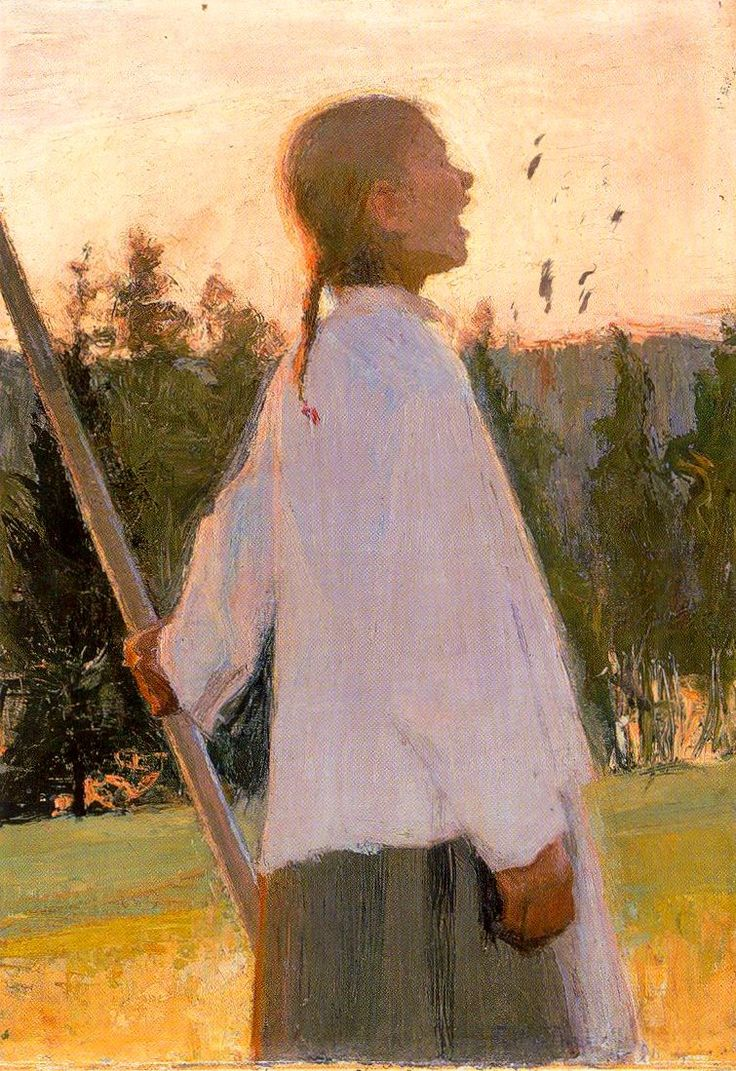 Ellen Thesleff (Finnish 1869-1954) - Kaiku / The Echo