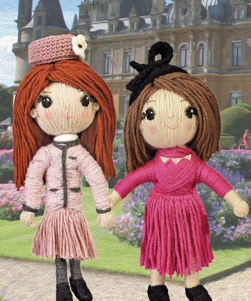 Princess Beatrice and Princess Eugenie from YARN WHIRLED: THE ROYAL FAMILY