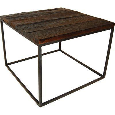 Cayon soffbord vintage trä/metall