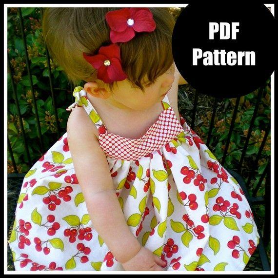 "Girls Dress Pattern, Baby Dress Pattern, Sewing Patterns, PDF Sewing Pattern, Easy Sewing PDF Patterns  ""Babydoll Dress"". $6.00 USD, via Etsy."
