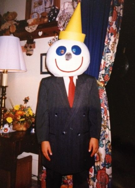 halloween costume jack in the box paper mache head
