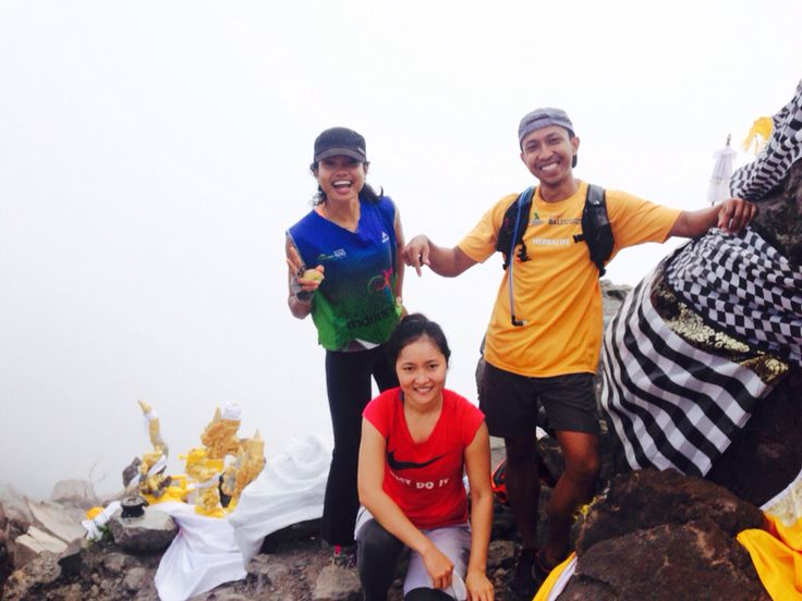 We are on Top Mt. Agung