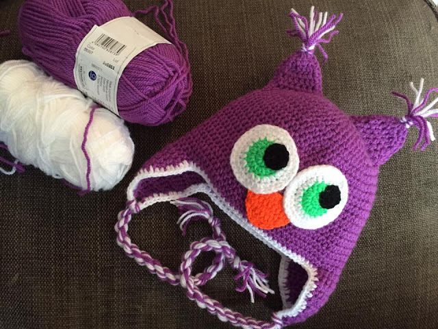 The Daily Knitter & Crocheter: How to chrochet - owl hat - step by step…