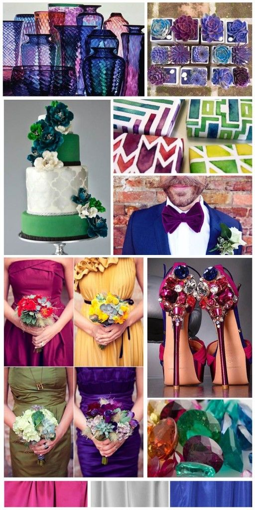 Jewel Tone Wedding, inspiration board by The Simplifiers | Austin