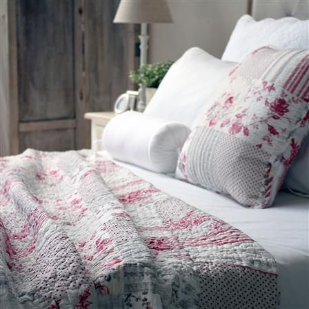 BIGGIE BEST French Floral Double Quilt, Pink
