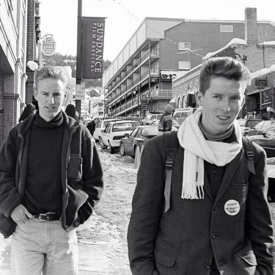 Owen Wilson & Wes Anderson at the Sundance Film Festival, 1993.