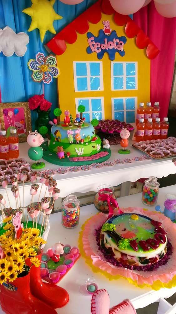 Peppa Pig Birthday Party Ideas | Photo 2 of 8 | Catch My Party