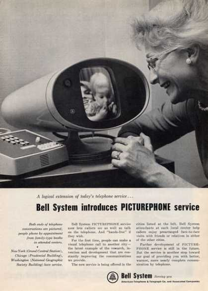 Bell System Picturephone (1964)  I remember seeing one of these once..it was a southern bell..show..or prehaps where you paid your bill