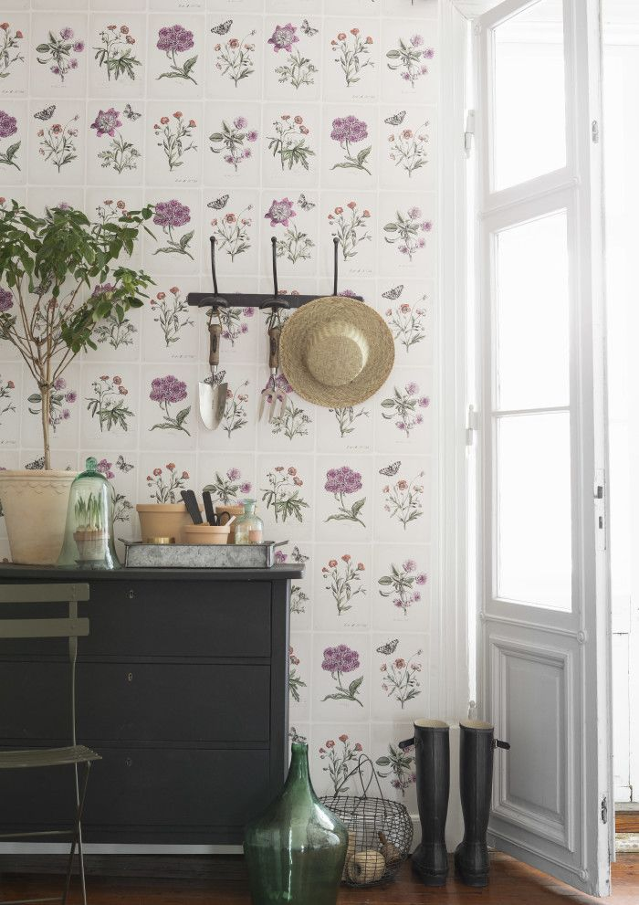 Vicky's Home: Create environments painted / Decorating with paper wallpaper