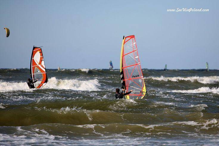 Windsurfing. #windsurfing #sport #seaside #balticsea #ustka #baltic #polska #pomorskie #pomorze #pomerania #visitpoland #discoverpoland