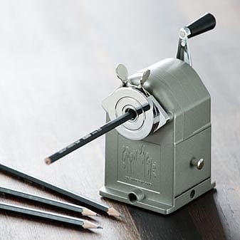 old school mechanical sharpener...it may be old school, but I'd love to have a functioning one.