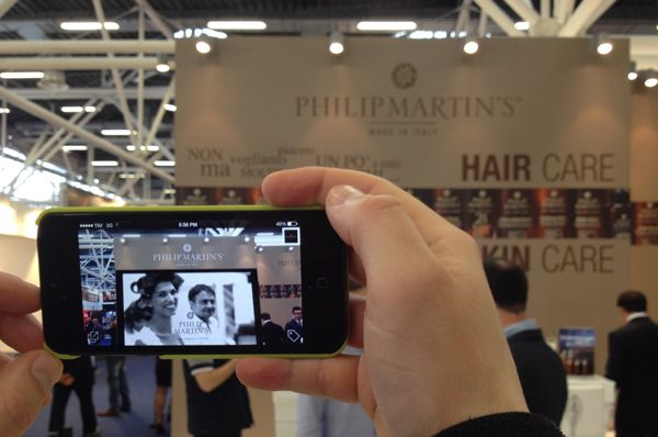 Interactive Wall Project using LAYAR app for Philip Martin's at Cosmoprof 2014.  Try it Now and Download the Layar app here: http://get.layar.com/  (Bologna, Italy)