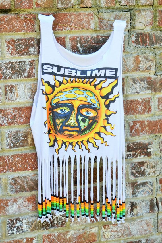 SOLD. This beautiful Sublime Band beaded top is perfect for any music festival such as Bonnaroo & Coachella !