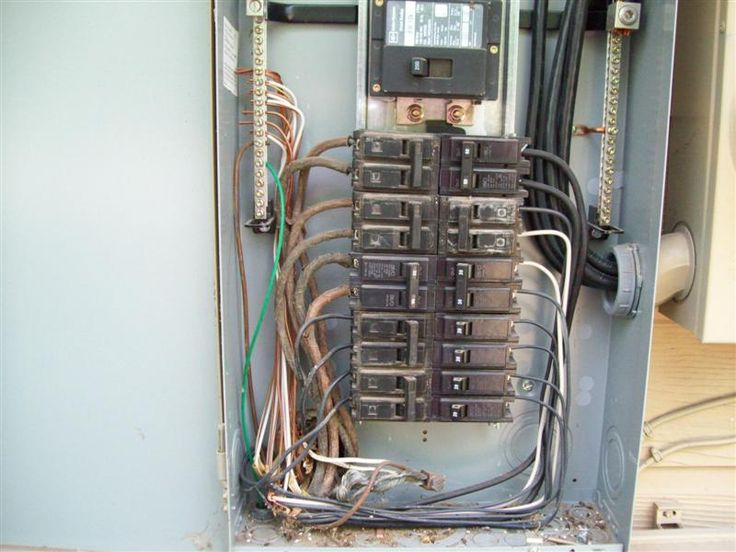 electric panel with disconect ground wire extends meter. Black Bedroom Furniture Sets. Home Design Ideas