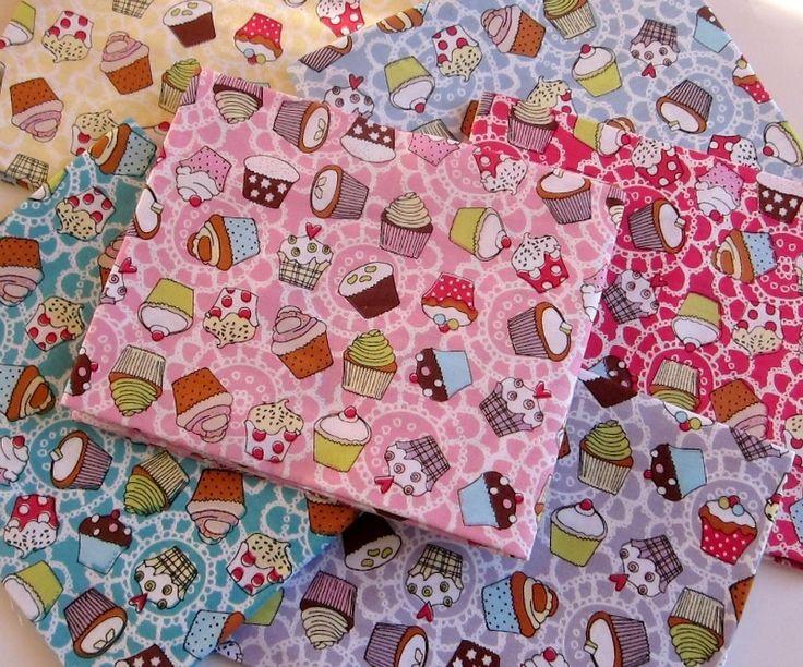 Small cupcakes-Fat Qurters - RiRi Yfasma (RiRiYfasma.gr)