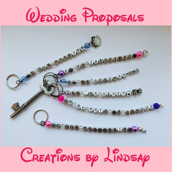 Wedding Party Gifts, Gifts for Bridesmaids, Gifts for Bestman, Personalised Keyrings, Charm Keyrings, Maid of Honour Gifts, Will You Be...