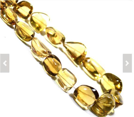 AAA Quality Honey Quartz Beads