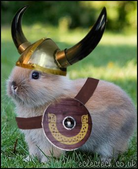 The viking bunny will save us all! So much wrong and right in one package.