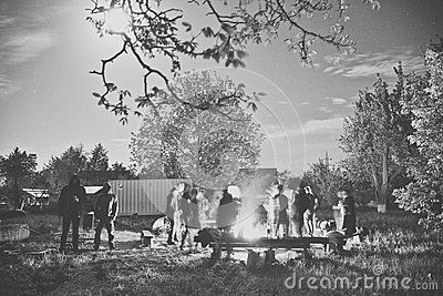People Near Campfire - Download From Over 43 Million High Quality Stock Photos, Images, Vectors. Sign up for FREE today. Image: 70462508