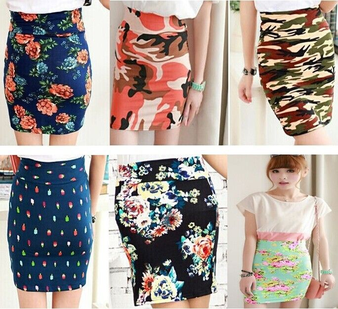 Cheap skirt fashion, Buy Quality skirt silk directly from China print shop Suppliers:  size information: waist:64-76cm,hip:74-86cm,skirt length:37cm       Women's Fashion
