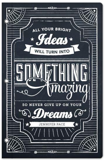 journals - Chalkboard Dreams by Jennifer Pace