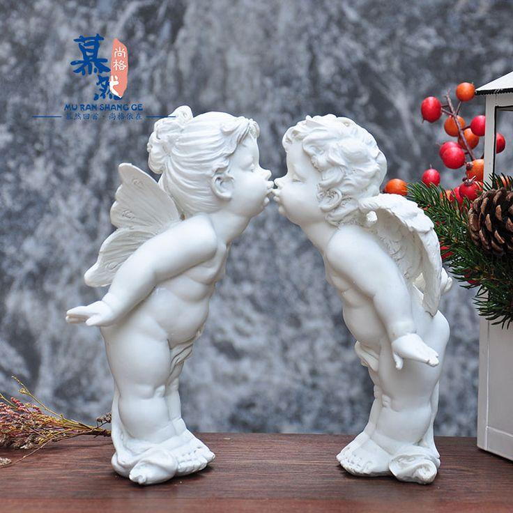 Иностранные херувим Купидон смолы украшения ремесла садовые украшения дома свадьба свадебный подарок - Taobao