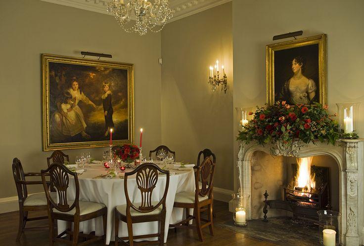 Iscoyd Park - dinner in the drawingroom