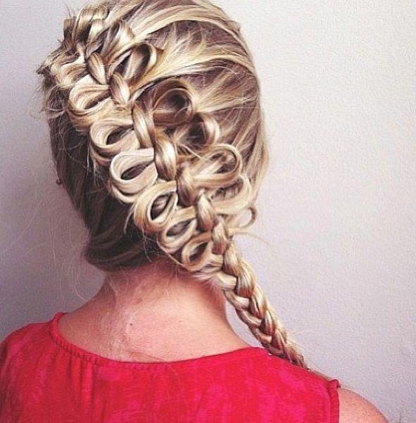 Hair bow braid