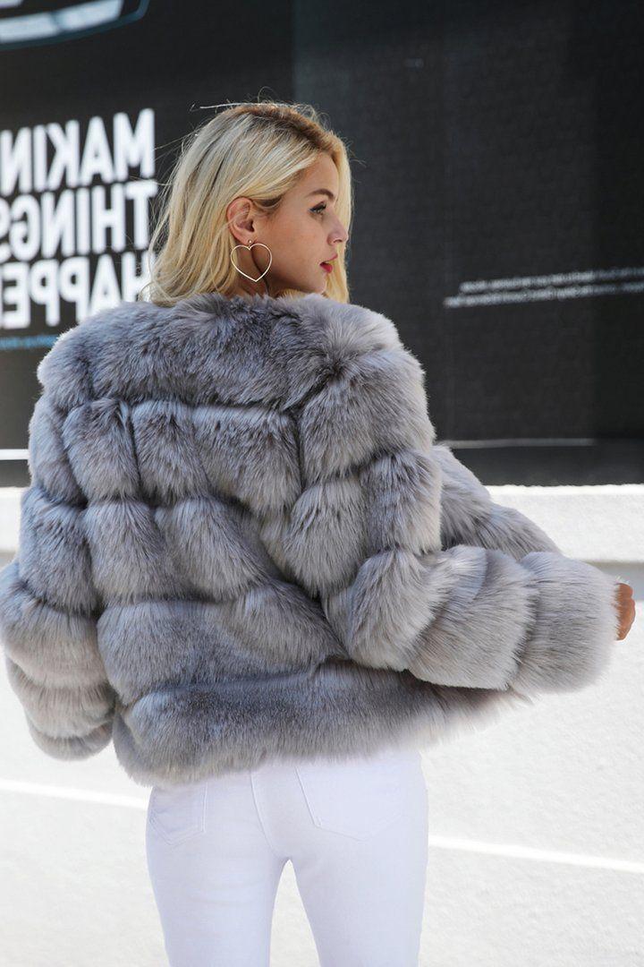 Ladies Winter Bomber Jacket Coats Fluffy Faux Fur Outwear Overcoat Warm Parka UK