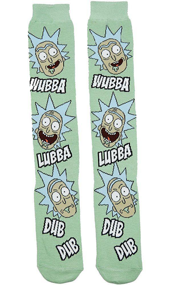 Rick and Morty Wubba Lubba Dub Dub Knee High Socks,Multi Colored,Adult Best Price #kneehighsocks
