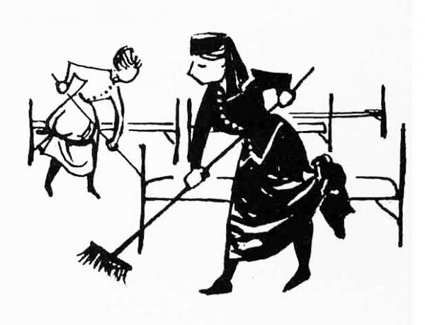 Cartoon uit Tijdschrift voor Ziekenverpleging, 1965
