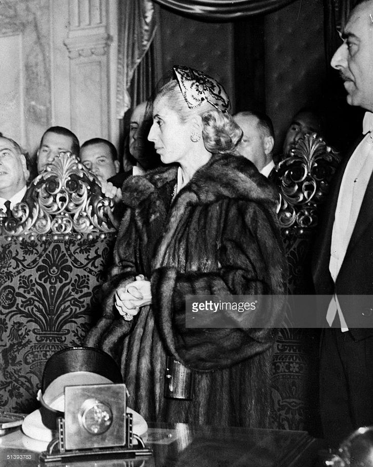 Picture taken in July 1952 in Buenos Aires of Eva Peron, known as Evita (1919-52). The second wite of Argentine President Juan Peron, was a radio and screen actress before her marriage in 1945, she became a powerful political influence and a mainstay of the Peron government. She was idolized by the poor, and after her death, in Buenos Aires, support for her husband waned.