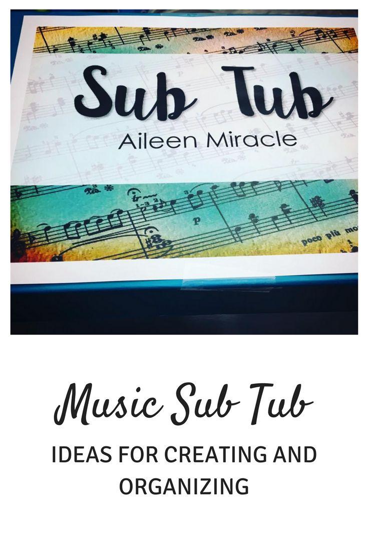 Music Sub Tub: Helpful tutorial for creating and organizing your sub tub!