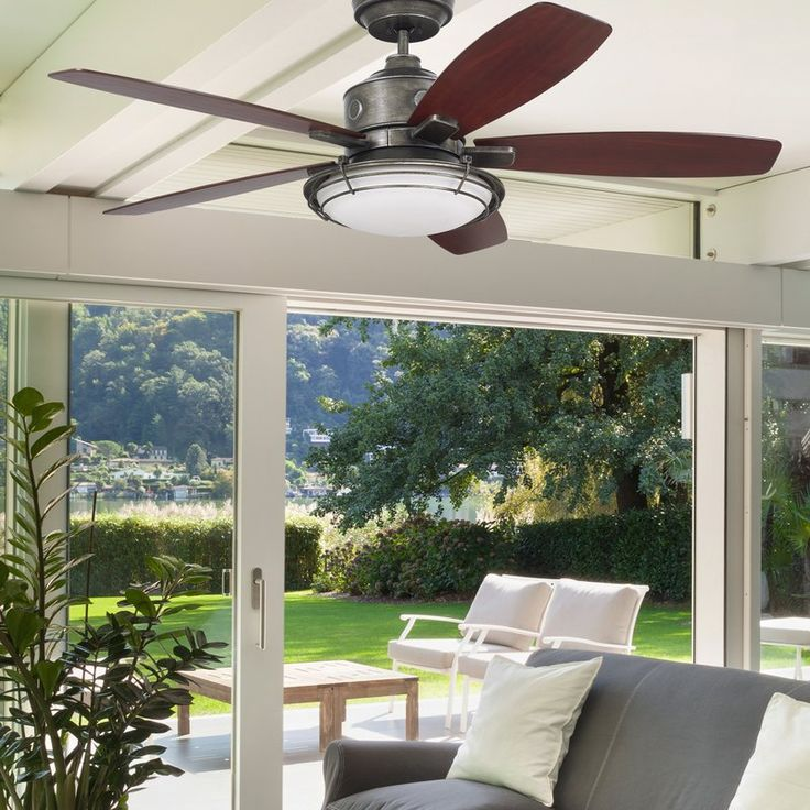 Mejores 13 imgenes de indooroutdoor ceiling fans en pinterest emersons new rockpointe ceiling fan is wet location rated making it the perfect addition to your favorite outdoor spacee rockpointe also includes a aloadofball Choice Image