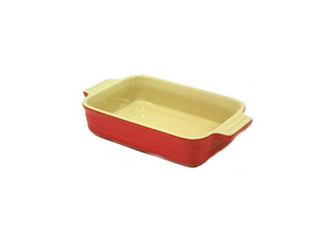 Le Creuset Poterie Rectangular Baking Dish 7 By 5 Red Review Baked Dishes Le Creuset Stoneware Creuset Le creuset rectangular baking dish