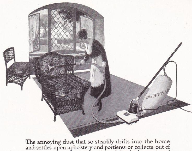 1920s Vintage Hoover Vacuum Housewife Cleaning Wicker