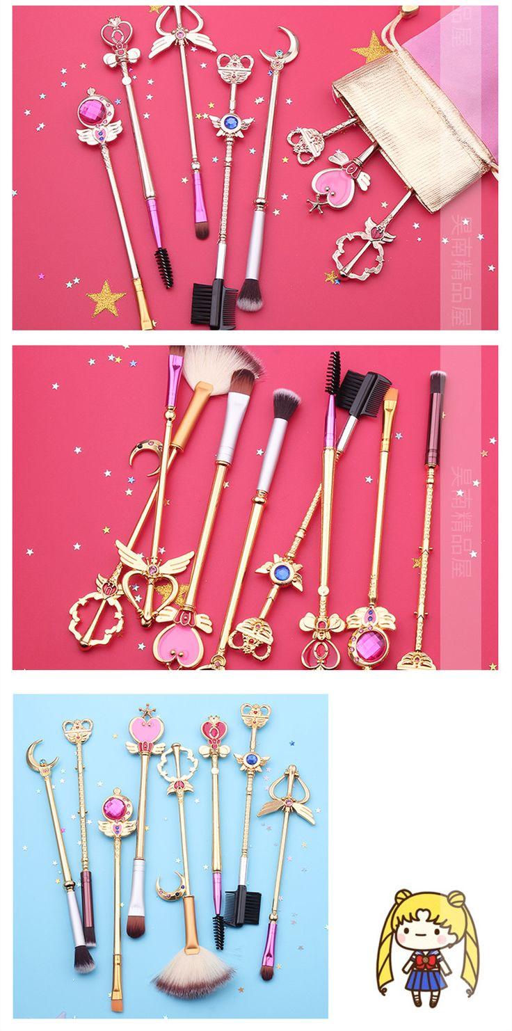 美少女戦士セーラームーン メイクブラシ 魔法少女ピンク8本セット メイクブラシセット化粧ブラシセット化粧ブラシ