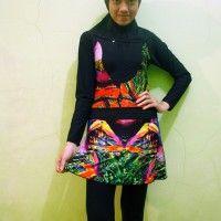 Baju Renang Muslimah Dewasa BRMD201405 Motif Abstrak Warna beli di ellima.web.id