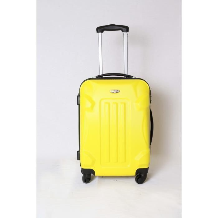 VALISE - BAGAGE Valise trolley taille cabine 4 roues 50cm jaune