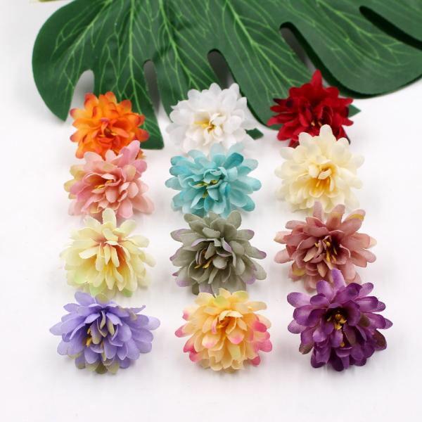 Dkk 6 05 14 Off 20pcs Artificial Flower Silk Gradient Carnation Flower Head Wedding Decoration Diy Wre In 2020 Fake Flowers Fake Flowers Wedding Artificial Flowers